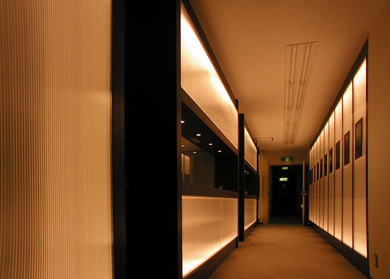 オフィス移転工事 福岡県福岡市中央区大名の事例オフィスのスケールを大きくする長い動線