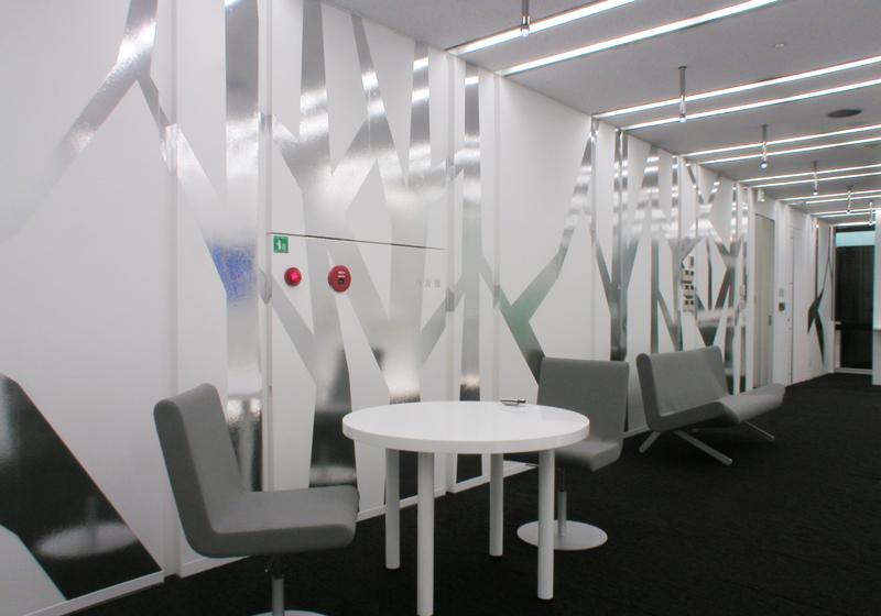 エントランスホール オフィスデザイン オフィス移転工事 東京都港区北青山の事例
