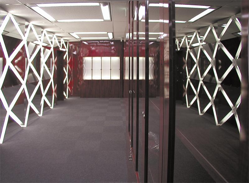 エントランスホール見返しの眺め デザインオフィス事例