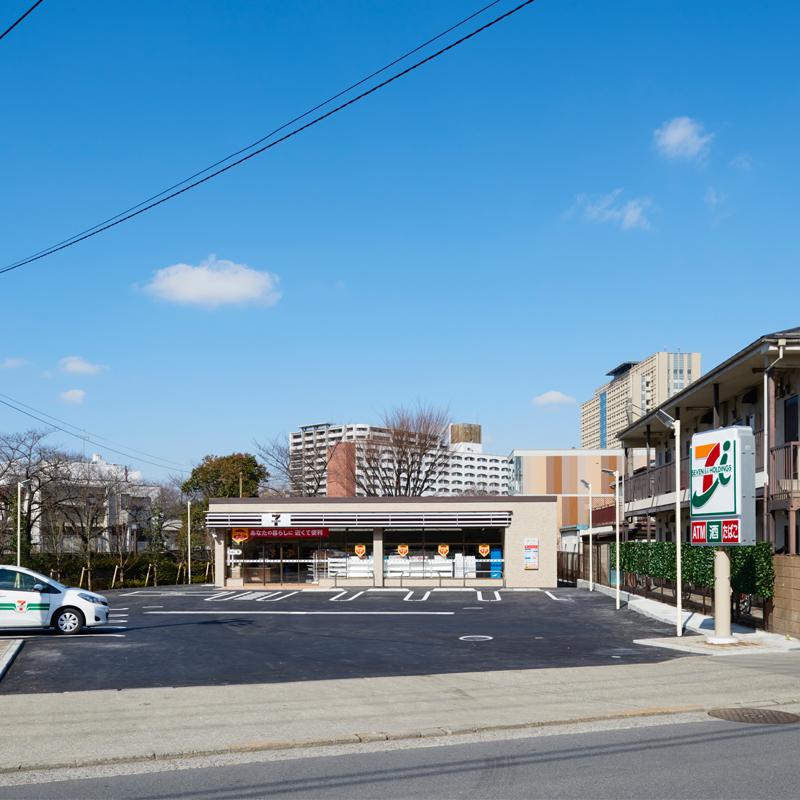 ロードサイド店舗 設計 建設事例 コンビニ セブンイレブン 景観条例対応型