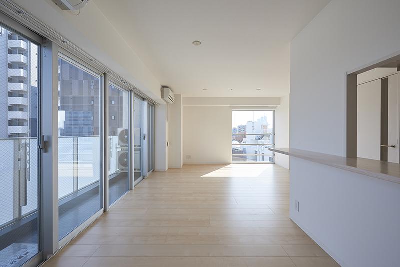 賃貸併用住宅 自宅兼賃貸マンション建替え事例住戸内装の工夫