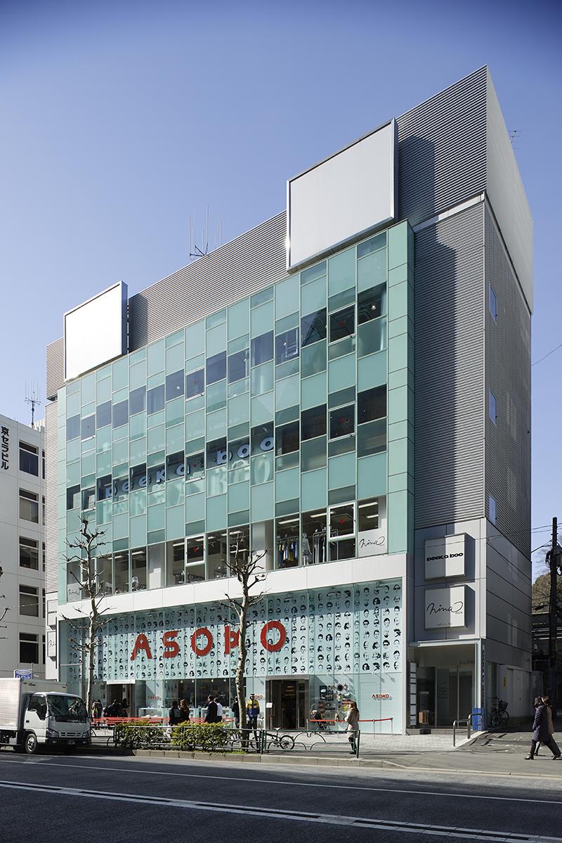 テナントビルの外観 オフィスデザイン オフィス移転工事  東京都渋谷区神宮前の実例