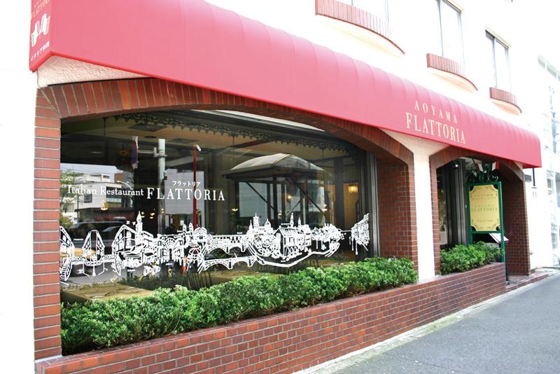 既存店舗を生かした外観のポイントレストラン外観