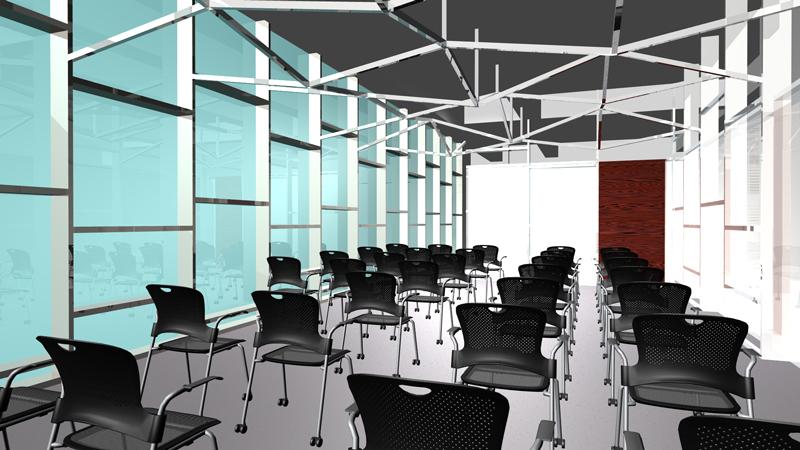 完成予想CG オフィスデザイン オフィス移転工事  東京都渋谷区神宮前の実例