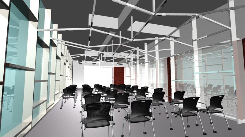 完成予想CG エントランスからホールイメージCG オフィスデザイン オフィス移転工事  東京都渋谷区神宮前の実例