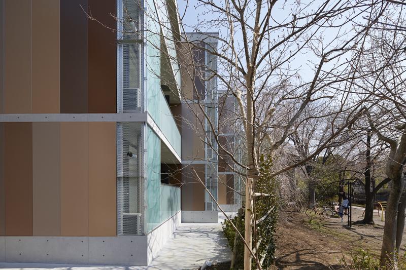 デザイナーズマンション鉄骨造コンクリートスラブALC外壁グラデーション