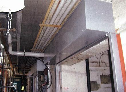 鋼製建具工事 1階テナント シャッター取付完了