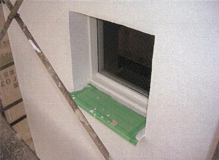 ガラス工事 階段室小窓ガラス入替