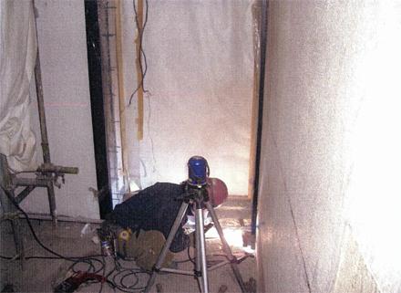鋼製建具工事 サブエントランス自動ドア取付状況