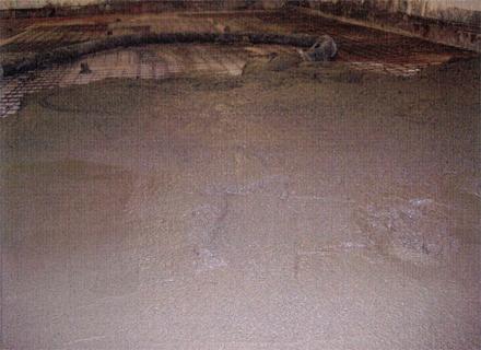 左官工事 テナント床 土間コンクリート打設状況