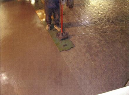 左官工事 ファンタジーコンクリート仕上げ 型押し施工状況