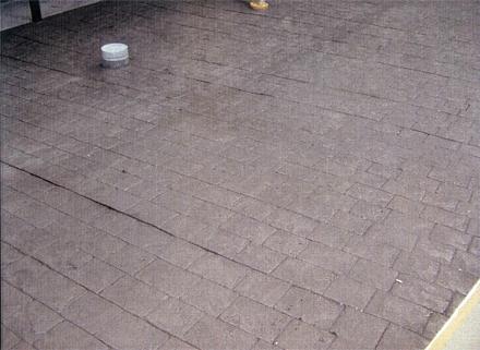 左官工事 1階駐車スペース ファンタジーコンクリート仕上げ 施工完了状況