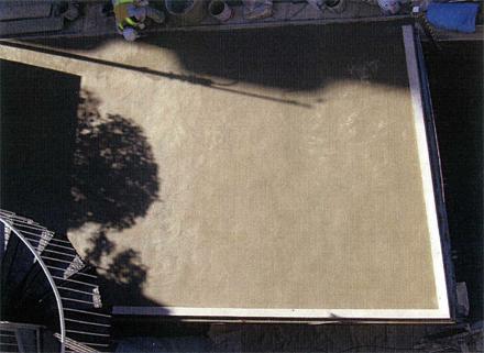 左官工事 駐車場既存土間コンクリート 薄塗り補修仕上げ 施工完了状況