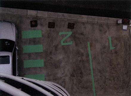 外構工事 駐車場路面番号表示 施工状況