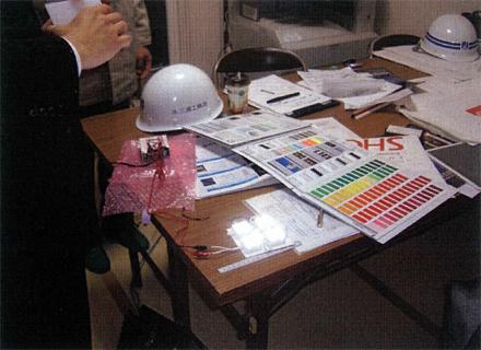 金属工事 LEDサイン工事 打合せ