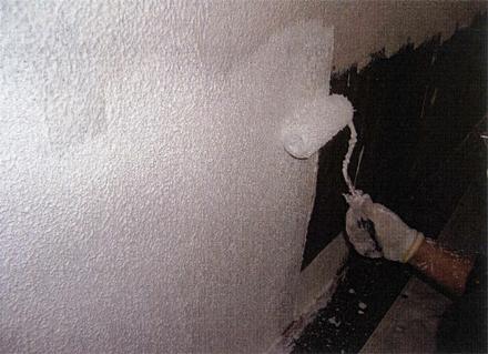 塗装工事 1階外壁塗装 フィーラーローラー塗り 施工状況