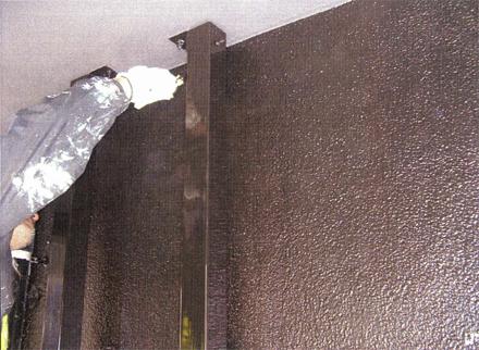 塗装工事 1階外壁塗装 鉄骨塗装仕上げ 施工状況