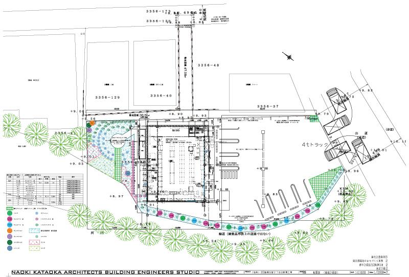 セブンイレブン コンビニ ロードサイド店舗 配置図平面図