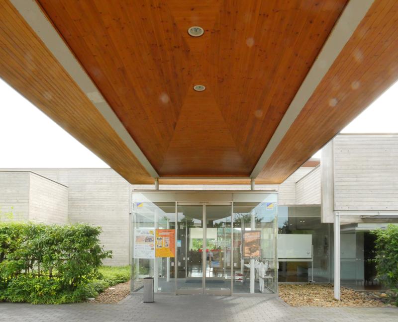 片岡直樹の建もの探訪|ゑしんの里記念館エントランス庇