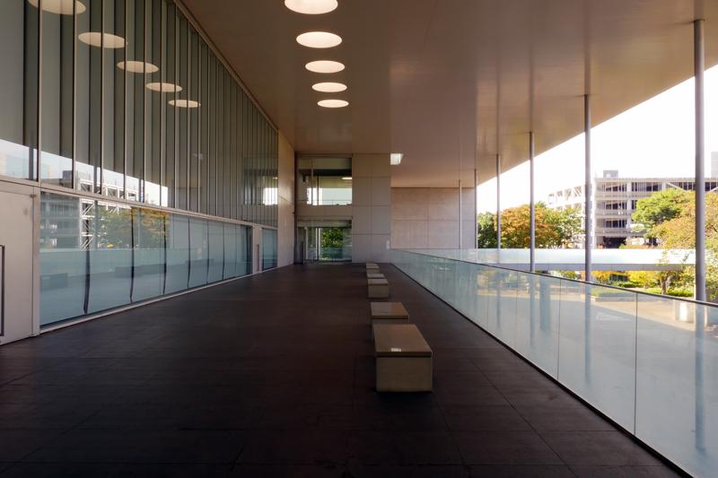 つくばカピオアリーナ側2階テラス