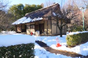 八王子千人同心組頭の家(はちおうじせんにんどうしんくみがしらのいえ)|江戸東京たてもの園 江戸時代後期 八王子市追分町 八王子千人同心は、江戸時代、八王子に配備された徳川家の家臣団です。 拝領屋敷地の組頭の家は、周辺の農家と比べると広くありませんが、 式台付きの玄関などは、格式の高さを示しています。
