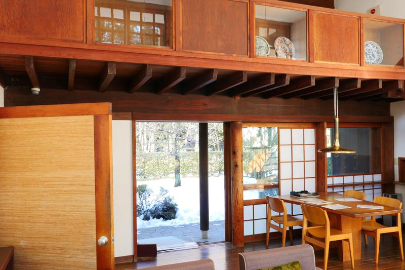 前川国男邸|リビング北庭側|江戸東京たてもの園