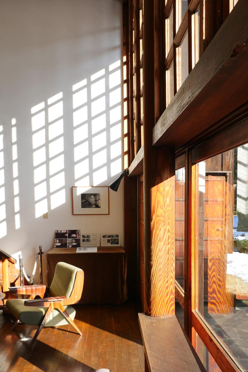 前川国男邸|リビング南窓ディテール|江戸東京たてもの園