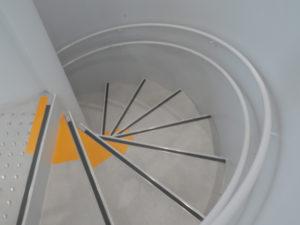 ミュージアムショップ地下へのらせん階段|すみだ北斎美術館|住宅/ビル/マンション設計者の建もの探訪