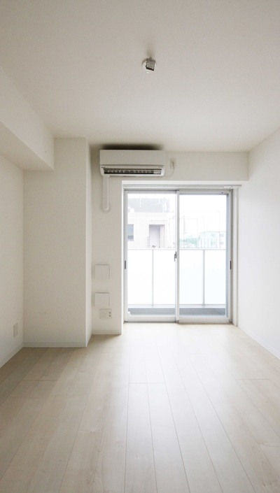 工事中に設計者が撮影した入居募集写真1K洋室|一日でも早く満室にするための新築賃貸マンション入居者募集方法
