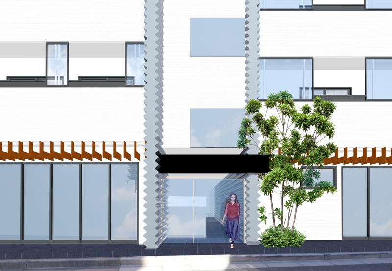 予想CGパースエントランス賃貸マンションと貸店舗 貸事務所の内外装大規模改修工事 1棟フルリノベーションの設計中です。 お施主様にご依頼いただいてからだいたい6か月経過しています。デザインや間取りなど打合せを行わせていただいております。外観デザインの打合せ3DCGパースです。2回ほどコストダウンを考慮既製品を流用したデザインとするなどの大きなデザイン変更がありました。今回の打合せでさらに大きな方針変更があり今回のイメージCGパースとは大きくイメージを変えるデザイン方針でお施主様より合意いただいたデザイン方針が定まりました。設計に反映する作業をしております。 賃貸マンションの空室対策でフルリノベーションをお考えのマンションオーナー様のご参考になれば幸いです。