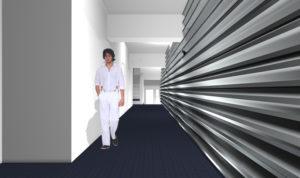 予想CGパース中廊下賃貸マンションと貸店舗 貸事務所の内外装大規模改修工事 1棟フルリノベーションの設計中です。 お施主様にご依頼いただいてからだいたい6か月経過しています。デザインや間取りなど打合せを行わせていただいております。外観デザインの打合せ3DCGパースです。2回ほどコストダウンを考慮既製品を流用したデザインとするなどの大きなデザイン変更がありました。今回の打合せでさらに大きな方針変更があり今回のイメージCGパースとは大きくイメージを変えるデザイン方針でお施主様より合意いただいたデザイン方針が定まりました。設計に反映する作業をしております。 賃貸マンションの空室対策でフルリノベーションをお考えのマンションオーナー様のご参考になれば幸いです。