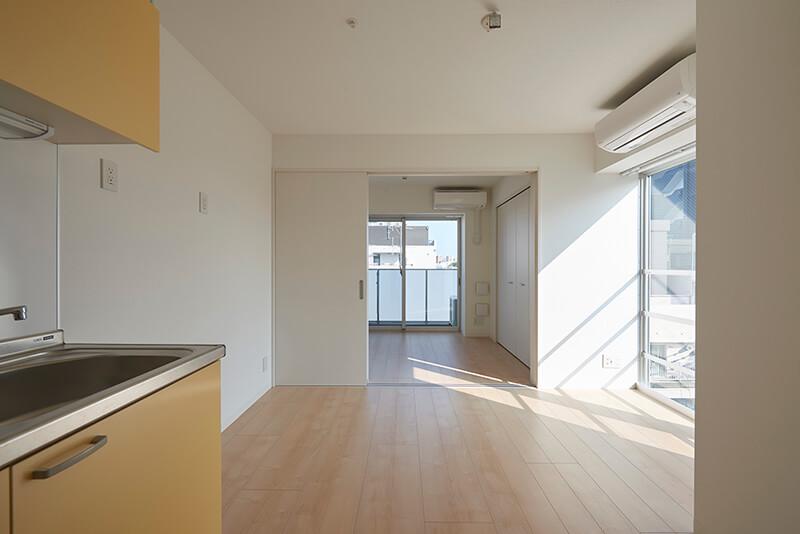 1DK 賃貸併用住宅 自宅兼賃貸マンション建替え事例 デザイナーズマンション