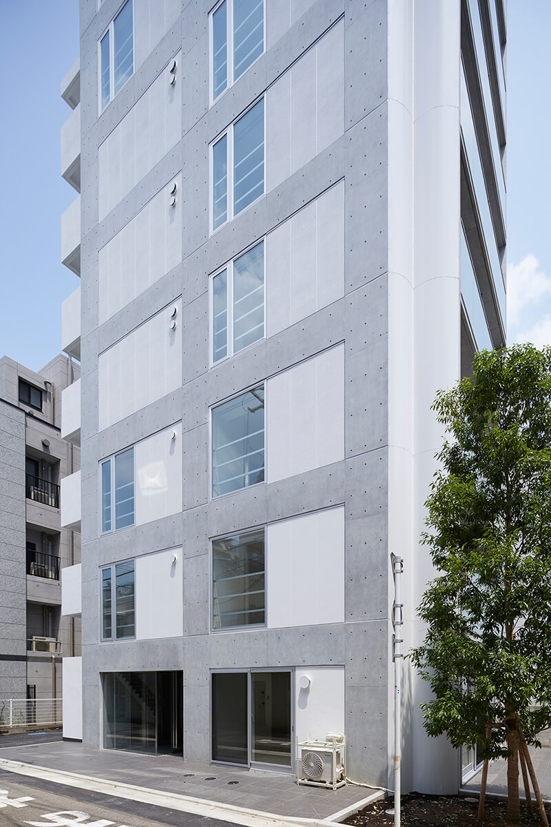レンタブル比も向上した建替え後の新建物 賃貸併用住宅 自宅兼賃貸マンション建替え事例 デザイナーズマンション