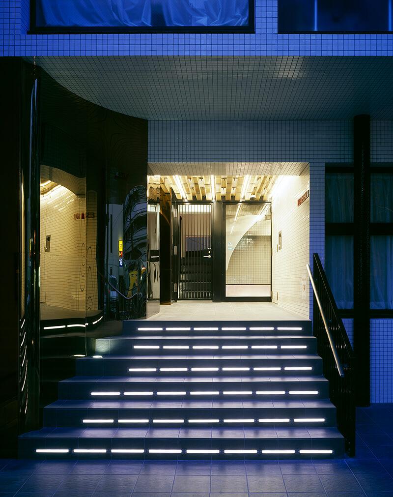 エントランス LEDライトアップ デザイナーズマンション