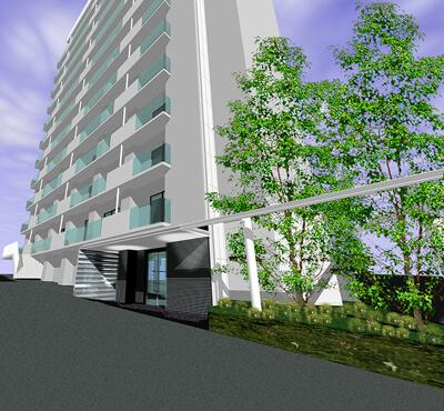 外観改装後CGイメージパース デザインリノベーション|賃貸マンション外壁大規模修繕|リフォーム空室改善事例