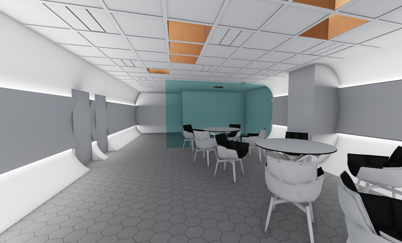 オフィスデザイン エントランスホール CGパース